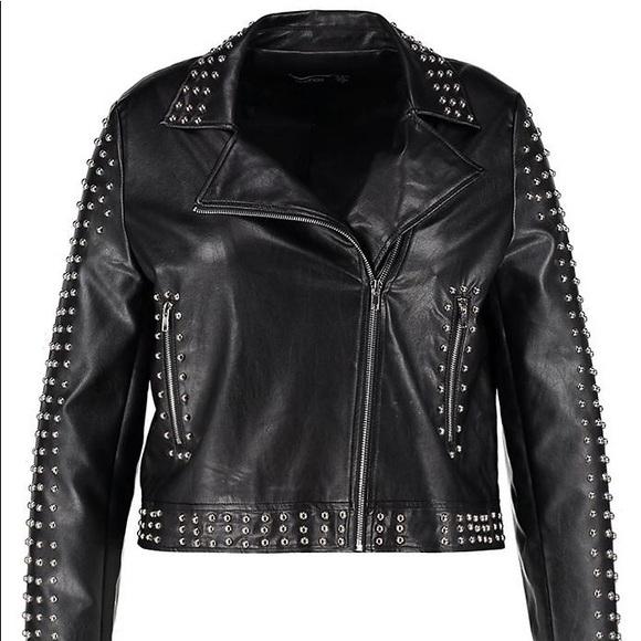 9010c1f89fdf Boohoo Plus Jackets & Blazers - Boohoo Plus All Over Studded Biker Jacket  Black